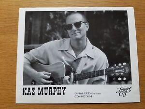 Kaz Murphy 8x10 Noir et Blanc Press Kit Photo Promotionnel Chanteur