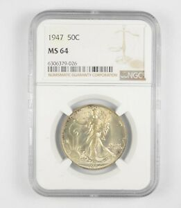 1947 MS64 Walking Liberty Half Dollar - Graded By NGC - Choice Unc *226