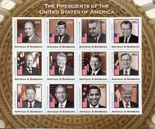 Antigua & Barbuda 2018 MNH US Presidents JFK Trump Obama Bush 12v M/S IV Stamps
