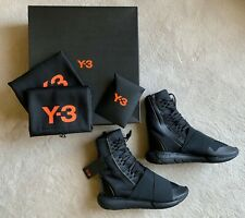 02886c13aca6c rare NIB sold out! Y-3 QASA BOOT Triple Black HIGH-TOP Sneakers