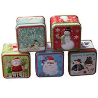 Christmas Candy Box Tea Box Santa Claus Candy Gift Storage Box Xmas Home Decor