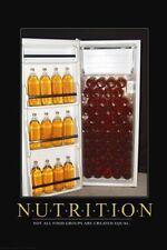 Nutrition Fridge 40 oz Beers Poster Art Print SO3441