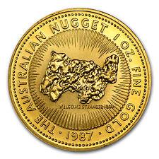 1 oz Gold Australian Kangaroo/Nugget Coin - Random Year Coin - SKU #14