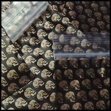 """Ziplock Baggies Apple Mini Bags 100 Gold Skull Design 2030 2"""" X 3""""  RARE"""