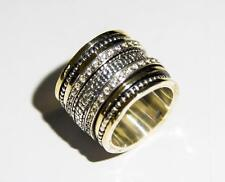 Spinner Ring Israeli Sterling Silver 9ct Gold rings for Woman jewelry Bluenoemi