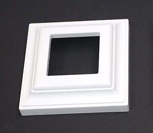 White Plastic Deck Railing Column Post Base Trim Ring 3 x 3 for PVC Vinyl