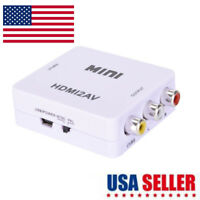 Mini Composite 1080P HDMI to RCA Audio Video AV CVBS Adapter Converter For TV FO