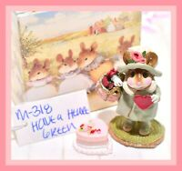 ❤️Wee Forest Folk M-318 Have a Heart Green Valentine's Day Winter Retired WFF❤️