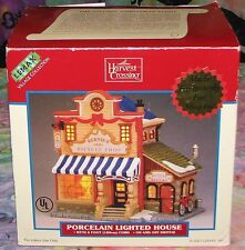 2001 Lemax Harvest Crossing Village Bernie's Bicycle Shop Lighted Building