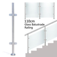 Pool Glass Fence Floor Standing Stairs Balcony Post Balustrade Railing Mid Post