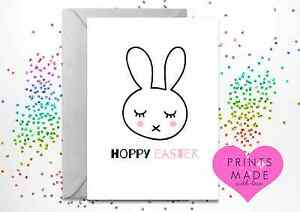 Greetings card / Easter card / Personalised / bunny / Hoppy Easter A5