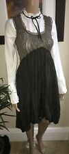 Claire Campbell HIGH ~  Olive Dress W Stretch Lace Detail M