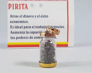 Colgante Amuleto BOTELLA DE PIRITA / Talisman PYRITE BOTTLE - Pendant Amulet