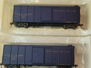 Fox Valley Models 30324 HO-Scale B&O Wagontop C-16 Express Blue Boxcar Pack 2