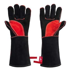 Fireproof Heat Resistant Gloves Fire Pit Wood Stove Work With Blacksmith Tools