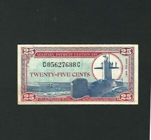 Military  Payment  Certificate - 25 Cents, Series 681