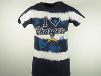 Youth San Diego Chargers official NFL Team Apparel Girls Dyed T-shirt New
