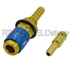 Gas & water Quick Connector Fitting Hose Connector Fit For TIG Welder & Torches