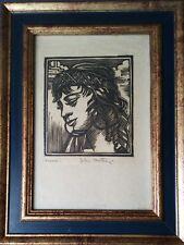 Orientalisme - Femme du Maroc - Bois gravé de Gill-Julien Matthey signée crayon