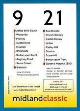 Bus Timetable Leaflet ~ Midland Classic 9 & 21 - Burton Swadlincote Ashby - 2009