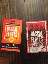 Rascal Flatts Tour Memorabilia Meet And Greey Sticker Lanyard Pass
