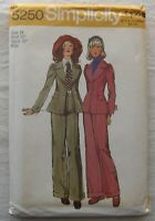 Jacket & Pants Sewing Pattern*Simplicity 5250*Size 14*UNCUT/FF*puff sleeve*retro
