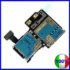 FLAT CAVO LETTORE SIM + MICRO SD CARD READER PER SAMSUNG GALAXY S4 i9505 FLEX