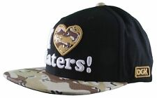 DGK Black Camo Haters Snapback Hat Cap