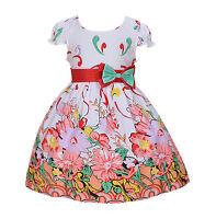 Cinda Para Niñas, Color Blanco rosa y rojo Flor Vestido De Fiesta 4 5 6 7 8 Años