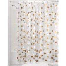 Peva Fabric Shower Curtain Gilly Dot Pvc Free 72 x 72 Inch Metallic