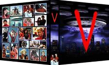 """V"" THE VISITORS Custom 3-Ring Binder Album MARC SINGER/FAYE GRANT/JANE BADLER"