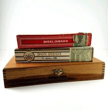 Vtg WOOD Wooden CIGAR BOX Punch Cruz TOBACCO Tobacciana CORONA Lot of 3 Boxes
