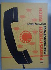 Fernsprechbuch Bezirk Schwerin 1990 Perleberg Parchim Ludwigslust Güstrow Warin