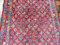 "1950's Handmade 4'3""x10'6"" Tribal Wool Vintage Traditional  area rug Runner"
