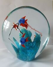Vintage Murano Glass Fish Aquarium paperweight