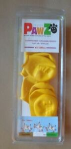 PawZ Dog 12 Disposable Reusable Boots xx small yellow