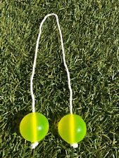 CLICKERS CLACKERS BALLS  NOISE MAKER LOOK ! GREAT COND. Solid yellow