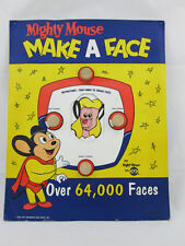 Vintage MIGHTY MOUSE MAKE A FACE GAME Over 64,000 Faces 1958 CBS TV Cereal