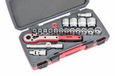 Teng Tools T1221 1/2 square drive 21 piece metric socket set TENT1221