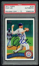 Cliff Lee #103 signed autograph auto 2011 Topps Baseball Card PSA Slabbed