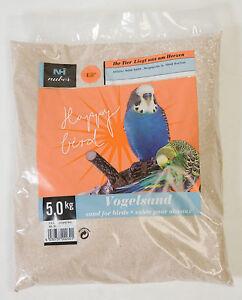 5 kg Vogelsand Badesand Ziervögel fein keimfrei feuergetrocknet mit Kalk & Anis