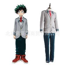 Anime Boku no Hero Academia Midoriya Cosplay Coat+Trousers Suit Set#82-K19