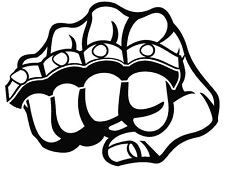FIST WITH KNUCKLE DUSTER  CAR DECAL STICKER