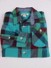 CHEROKEE TARGET BOYS GREEN/RED CHECKERED BUTTON UP DRESS SHIRT SZ 4/5 XS NEW