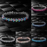 1pc Women Charm Crystal Rhinestone Wristband Bracelet Bangle Chain Jewelry Gift
