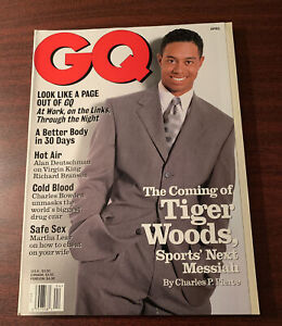 TIGER WOODS April 1997 The GQ Interview Magazine Cover Gentleman's Quarterly