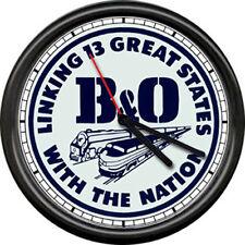 B&O B & O Railroad Railway Conductor Engineer US Train Sign Wall Clock