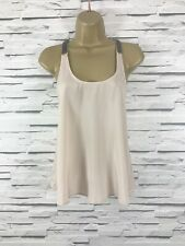 TOPSHOP Pink Strappy Beaded Top Size 6 Smart Occasion Party