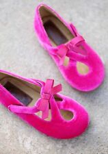 Hard To Find New JOYFOLIE Girls Lilah Pink Velvet Mary Janes Youth Shoes Sz2