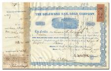 Delaware Railroad Company Stock Certificate (1860's)